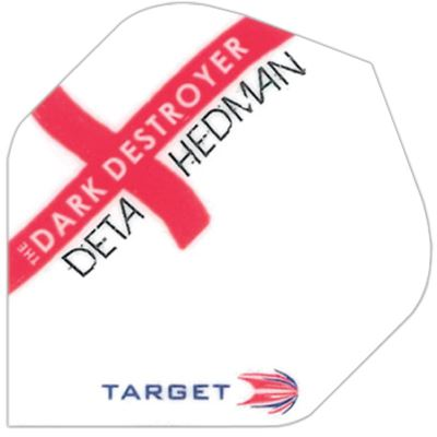 Target Darts Deta Hedman White and Red Cross - Pro 100 Flight  Standard