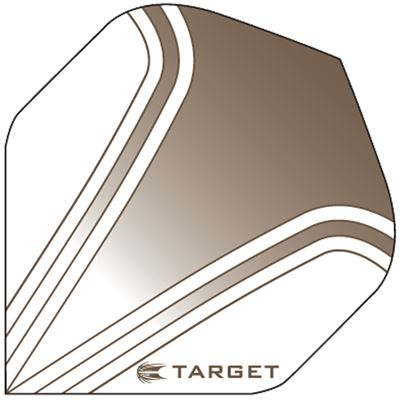 Target Darts Bronze and White - Pro 100 Flight Standard