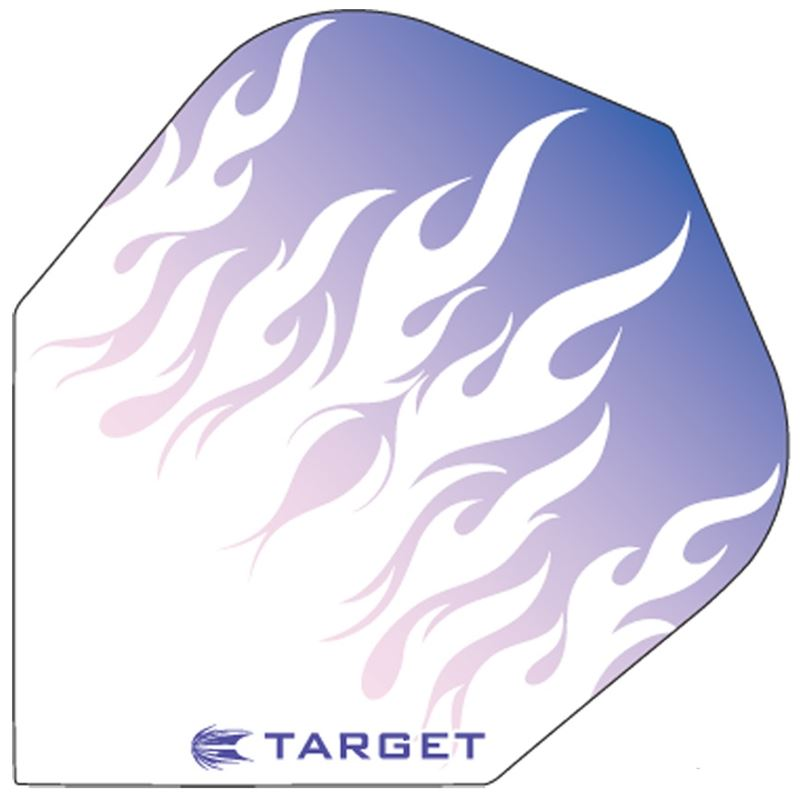 Target Darts Purple with White Flames - Pro 100 Flight Standard
