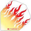 Target Darts Red and Yellow Flames - Pro 100 Flight Standard