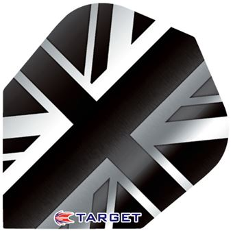 Target Darts Black and White English Flag - Pro 100 Flight Standard