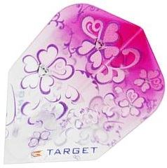 Target Darts Girl Play Pink with Purple Flowers - Pro 100 Flight Standard