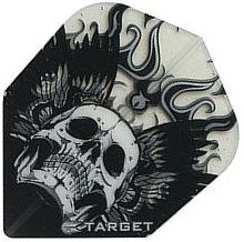Target Darts Black Winged Skull - Pro 100 Flight Standard