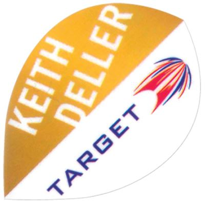 Target Darts Keith Deller Orange and White - Pro 100 Flight  Pear