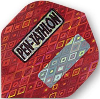 Dart World 2D Glitter Pentathlon Red Standard