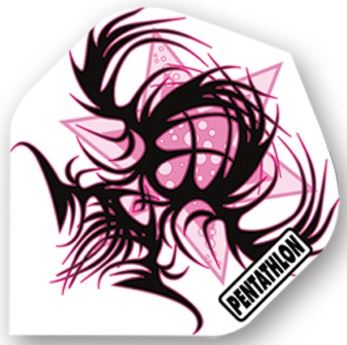 Dart World Pentathlon - Pink and Black Tribal Standard