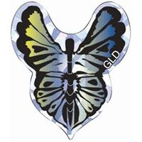 GLD 2D Glitter - Butterfly Blue & Green