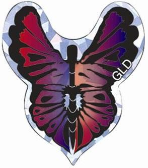 GLD 2D Glitter - Butterfly Red