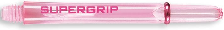 Dart World Supergrip Shafts Clear Pink - Medium