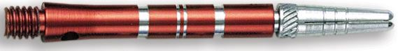 Dart World Top Spin Grooved Shafts Red - Medium