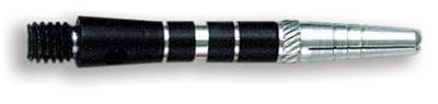 Dart World Top Spin Grooved Shafts Black - Short