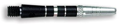 Dart World Top Spin Grooved Shafts Black - Short