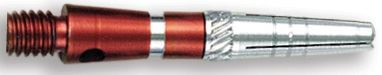 Dart World Top Spin Grooved Shafts Red - Extra Short
