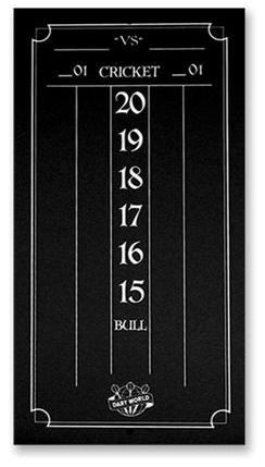 Dart World Mini Black Scoreboard chalk