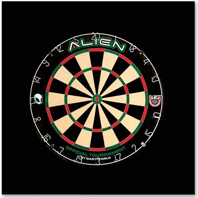 Dart World Alien Wall Protector Set with Darts and Board