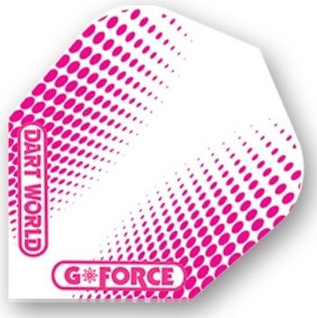 Dart World G-Force - Clear with Pink Dots  Standard
