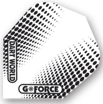 Dart World G-Force - Clear with Black Dots  Standard