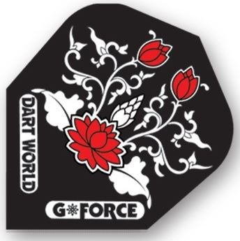 Dart World G-Force - Black with Red Flowers Clear Standard