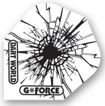 Dart World G-Force - White with Black Bullet Hole Clear  Standard