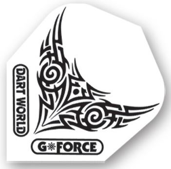 Dart World G-Force - White With Black Tribal Wings Clear  Standard