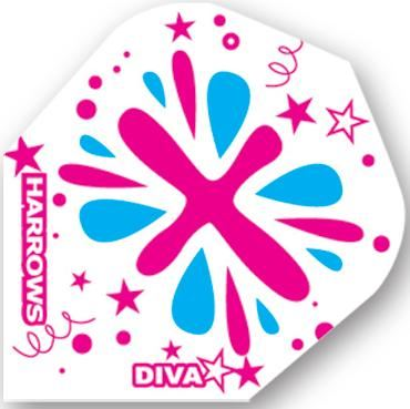 Dart World Diva Pink and Blue Paint Splotches  Standard