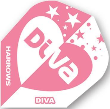 Dart World Diva Pink and White Dive Heart with Stars Standard