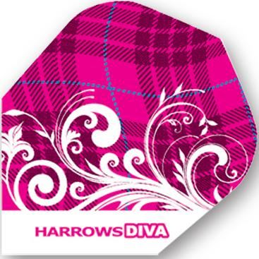 Dart World Diva Pink Plaid with Swirls Standard