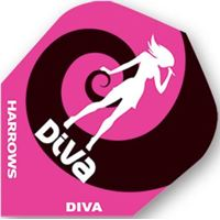 Dart World Diva Girl with Dart in Pink and Black Wave Standard