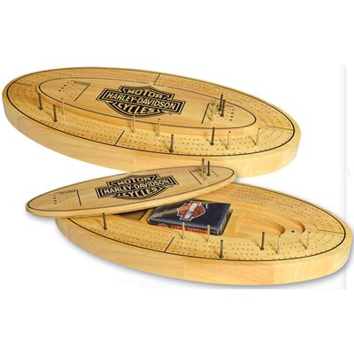 Dart World Harley Davidson® Bar & Shield Cribbage Board