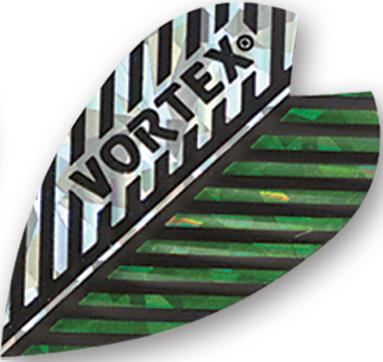 Harrows Vortex - Silver & Green Feather