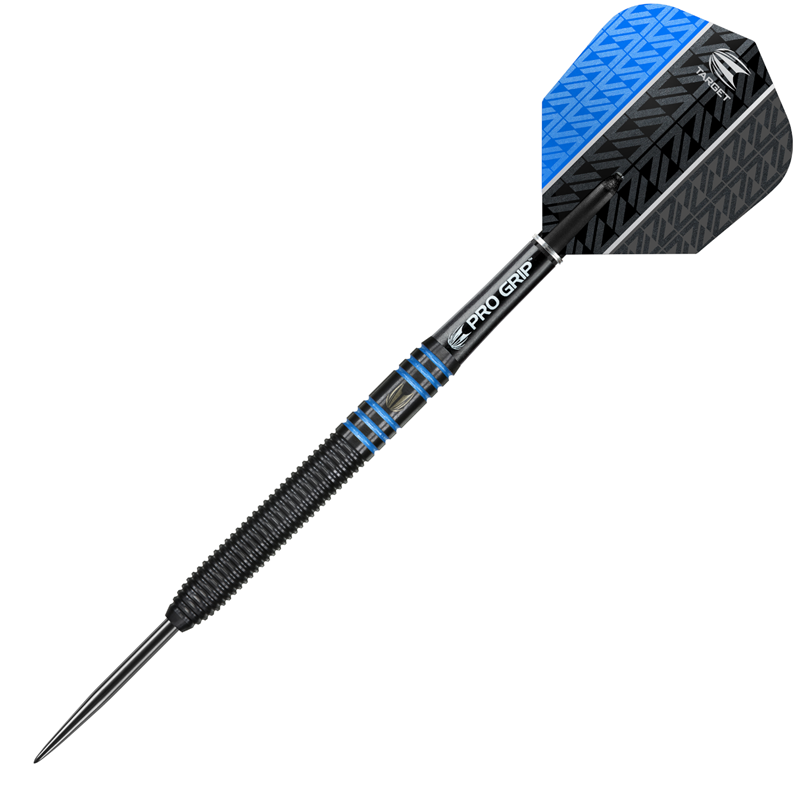 Target Darts Vapor8 Black/Blue Steel 80% Tungsten 22 grams