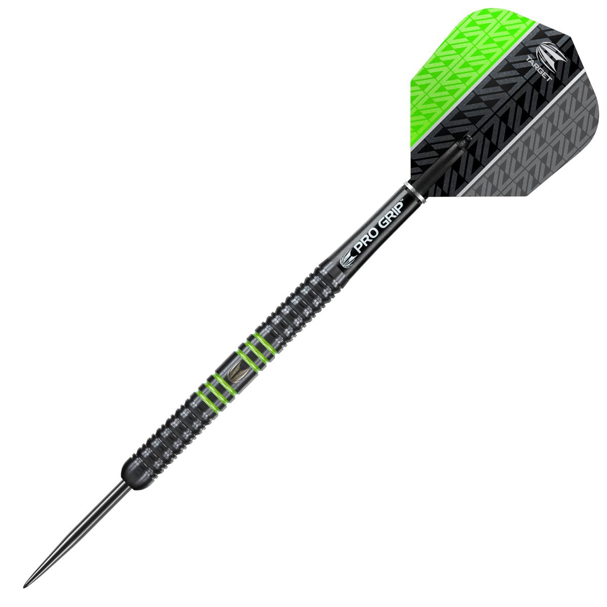 Target Darts Vapor8 Black/Green Steel 80% Tungsten 23 grams