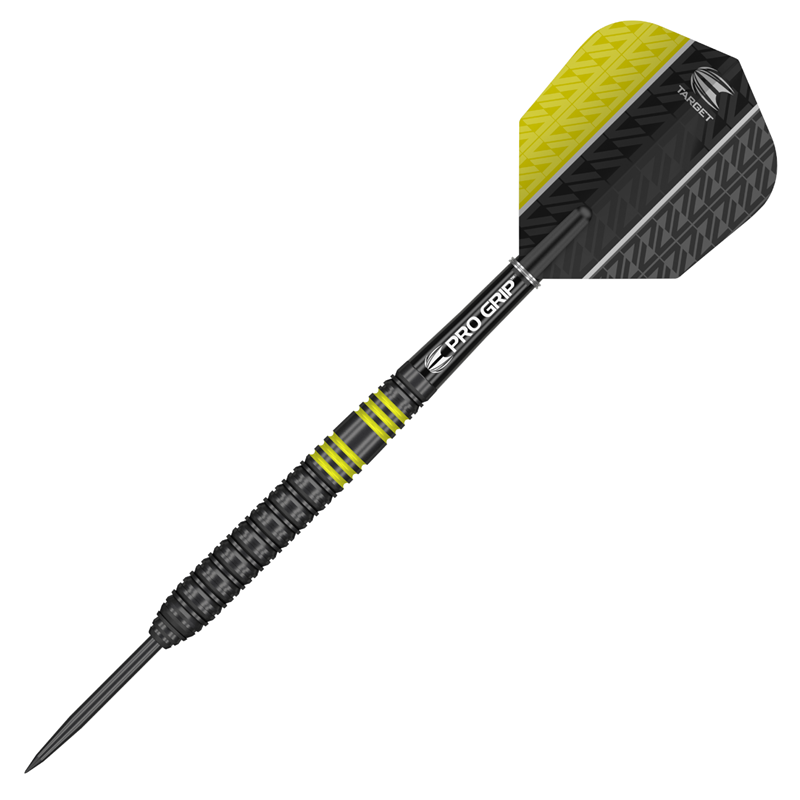 Target Darts Vapor8 Black/Yellow Steel 80% Tungsten 24 grams
