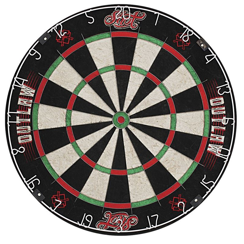Shot Outlaw Bristle Dartboard