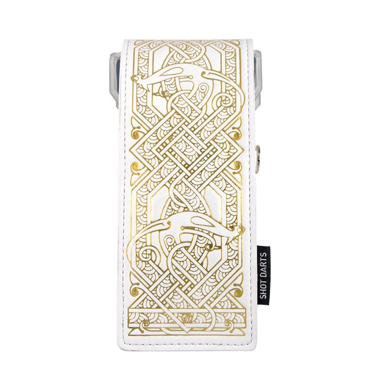 Shot Insignia Darts Case Viking - White with Gold Detailing